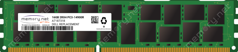 A7187318 - 1x 16GB DDR3-1866 RDIMM PC3-14900R Dual Rank x4 Replacement