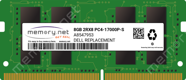 A8547953 - 1x 8GB DDR4-2133 SODIMM PC4-17000P-S Dual Rank x8 Replacement